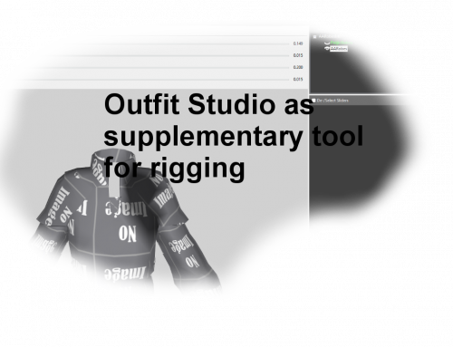 Using Outfit Studio for Rigging